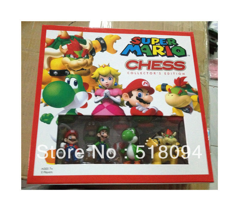 Free Shipping Super Mario Bros Chess PVC Action Figures Toys 32pcs/set SMFG078 12pcs set children kids toys gift mini figures toys little pet animal cat dog lps action figures