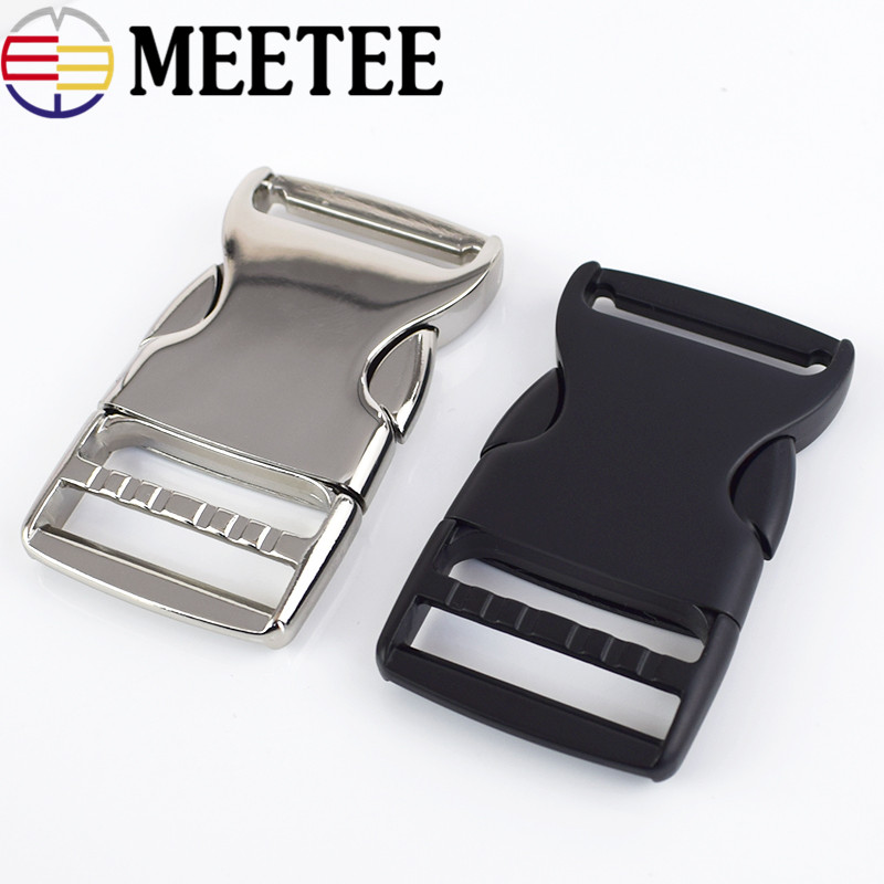 Meetee 25 38MM Thick Metal Release Buckle Backpack Shoulder Bag Adjustment Button Luggage Bag Accessories Sewing Buckle AP486 in Buckles Hooks from Home Garden