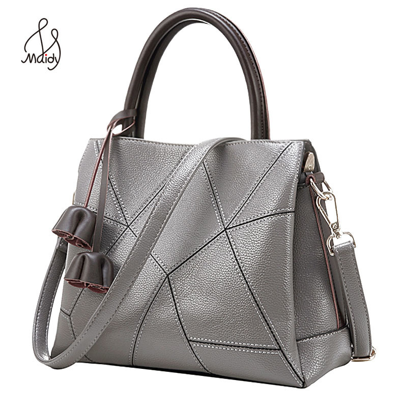 Women Real Cowhide Cow Leather Ladies Diamond Lattice Bag Handbags Crossbody For Messenger Bags Shoulder Tote