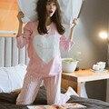 2016 novo Pijama Entero Pijama Feminino Pijama Femme das Mulheres Pijamas Pijamas Para Mulheres Lar Roupa Pijama Mulheres Pigiami