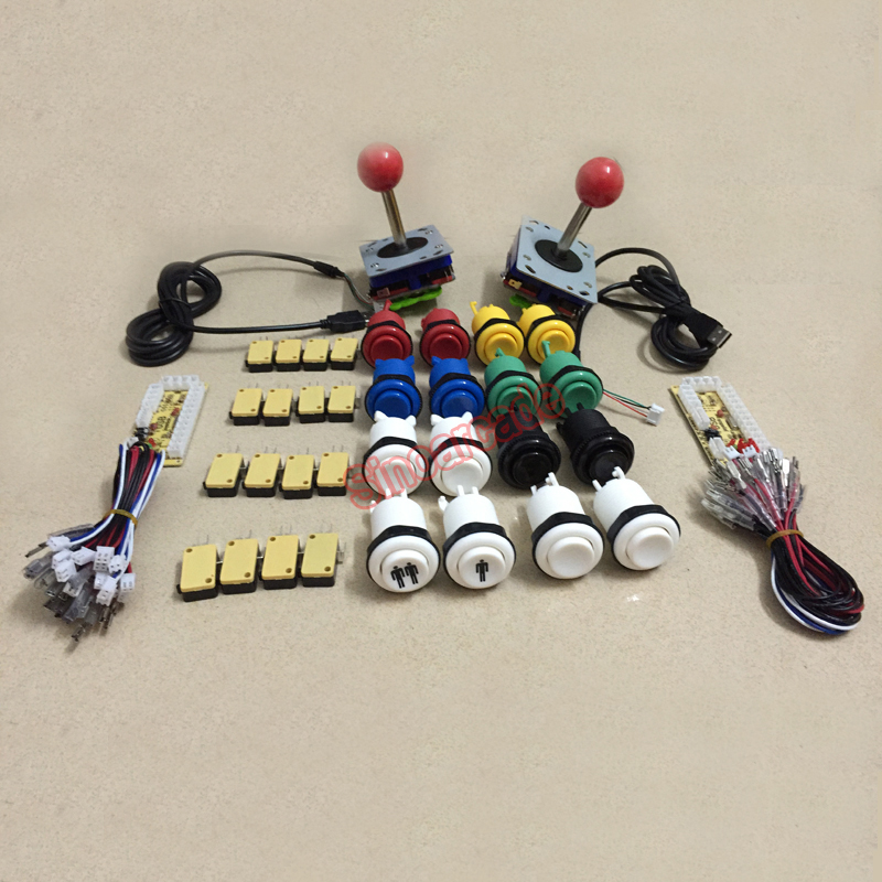 Arcade game DIY kit: 2* Zero delay USB encoder & 16* HAPP push button & 2* zippy style joystick new mini arcade machines diy kits parts zero delay encoder circuit board