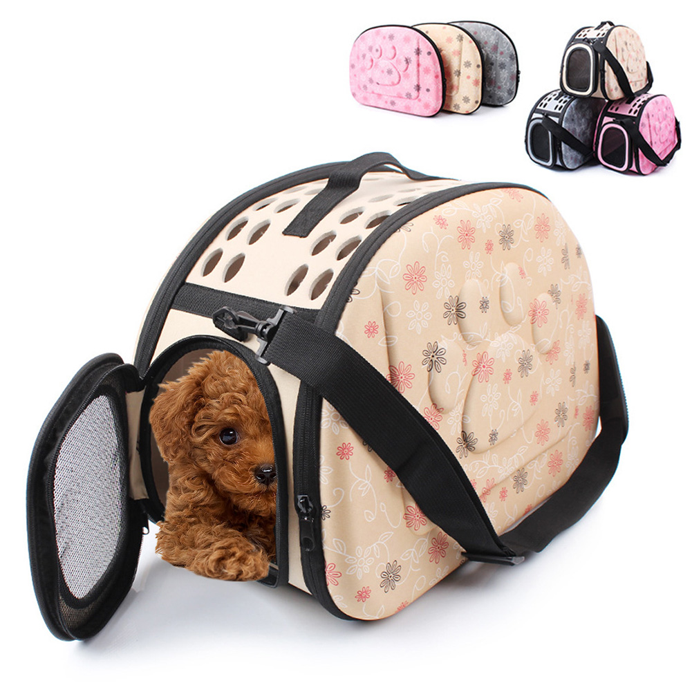 Reise Pet Dog Carrier Puppy Cat Bære Utendørs Vesker For Små Hunder Skulderveske Myke Kjæledyr Dog Kennel Pet Products 3 Colors