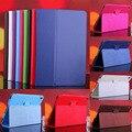 Para universal flip folio de la cubierta del cuero de la pu adjustabl case para 10.1 pulgadas para lenovo a10-70 a7600 tablet pc en Stock