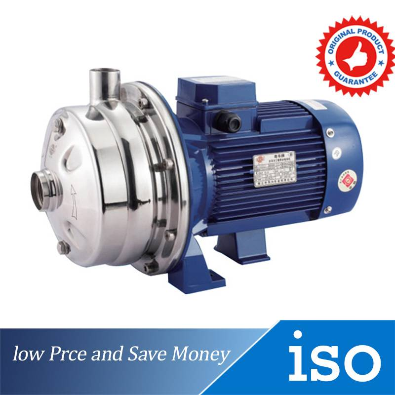 380V High Pressure Water Pump For Washing And Sprinkling Stainless Steel Centrifugal Pump WB70/075