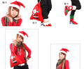 Christmas gift bags Santa Claus dance party long 40CM wide 30CM  activities special sticker