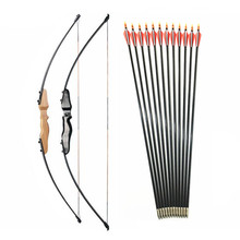 30 40lbs Straight Bow Split 51 Inches  And fiberglass Arrow For Children Youth Archery  Shooting  Kids Bow