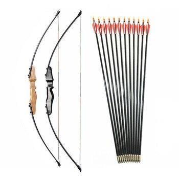 30-40lbs arc droit fendu 51 pouces et flèche en fiber de verre pour les enfants