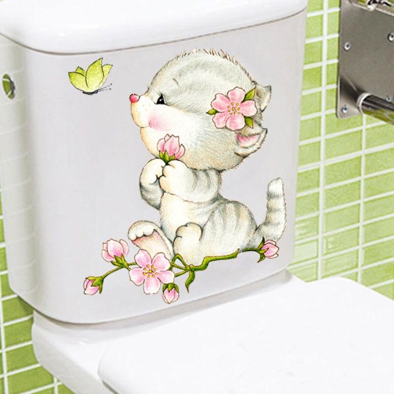 Вид civid 20*30 см настенные наклейки для кошек детских комнат ванной туалета