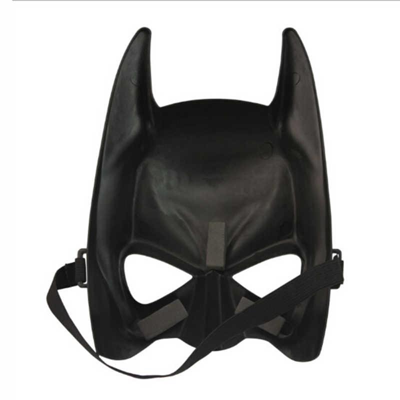 1 Pcs Halloween Batman Hitam Topeng Topeng Pesta Karnaval Ganti Pria Keren Menakutkan Anonim Masker Seksi Masker untuk Kostum