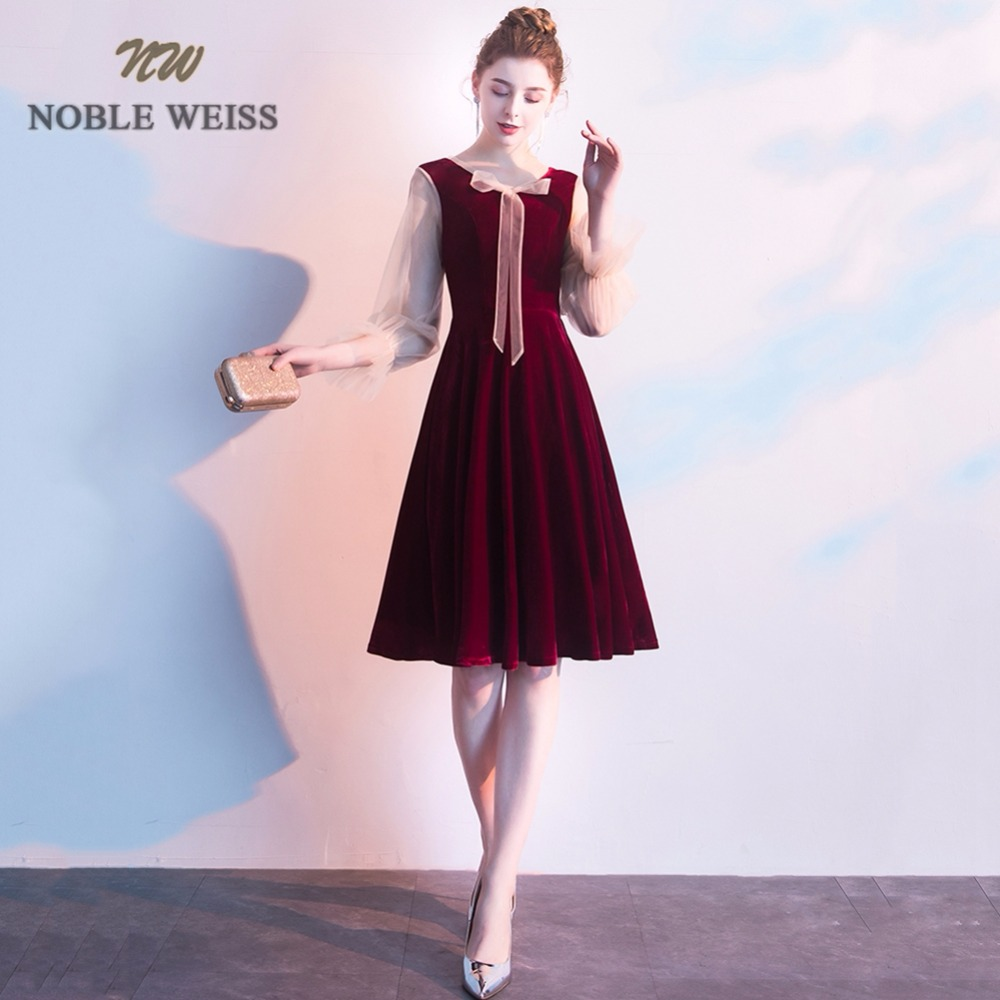 Closeout DealsGraduation-Dresses Formatura Vestidos A-Line Long-Sleeve Para New-Styleå