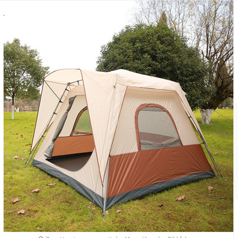 Camping Tent 6 Person One Bedroom 5-8 Person Tent Waterproof Windproof Camping Family Tent trackman 5 8 person outdoor camping tent one room one hall family tent gazebo awnin beach tent sun shelter family tent