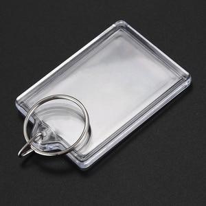 Image 5 - 100 pièces porte clés Transparent avec espace pour les photos ou les images de 90*40mm porte clés de photo