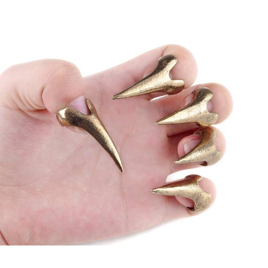 Punk Rock Gothic Talon Crystal Nail Finger Claw Rings Jewelry Accessory Fashion