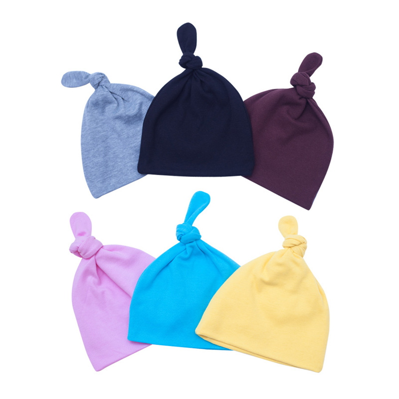 Cotton Newborn Baby Hat Solid Baby Hospital Hat Cute Baby Tire Beanie Soft Warm Autumn Winter Hat For Newborn Baby Boys Clothing