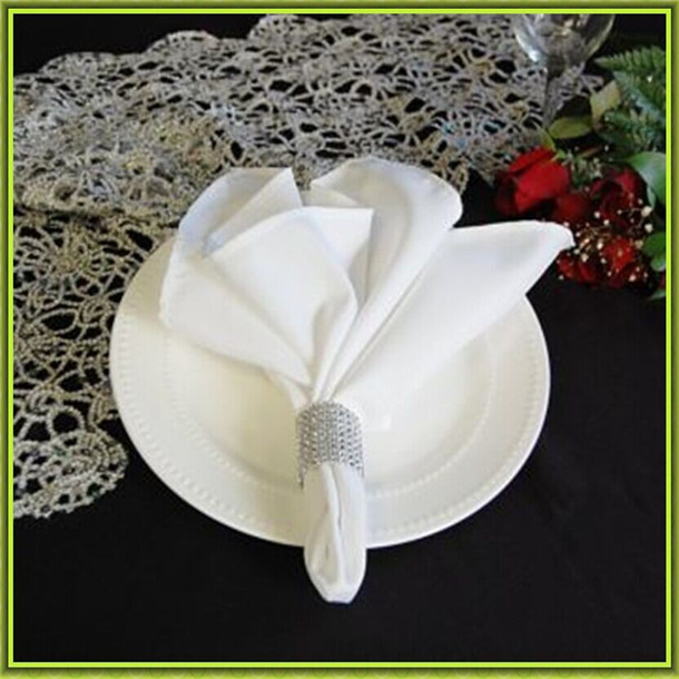 Marious Brand 2018 new style 100pcs banquet plain satin table napkin from china FREE SHIPPING decoration