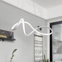 Лучший горячий затемняемый белый светодио дный/черный современный светодиодный подвесной светильник для столовой гостиной бар подвесной
