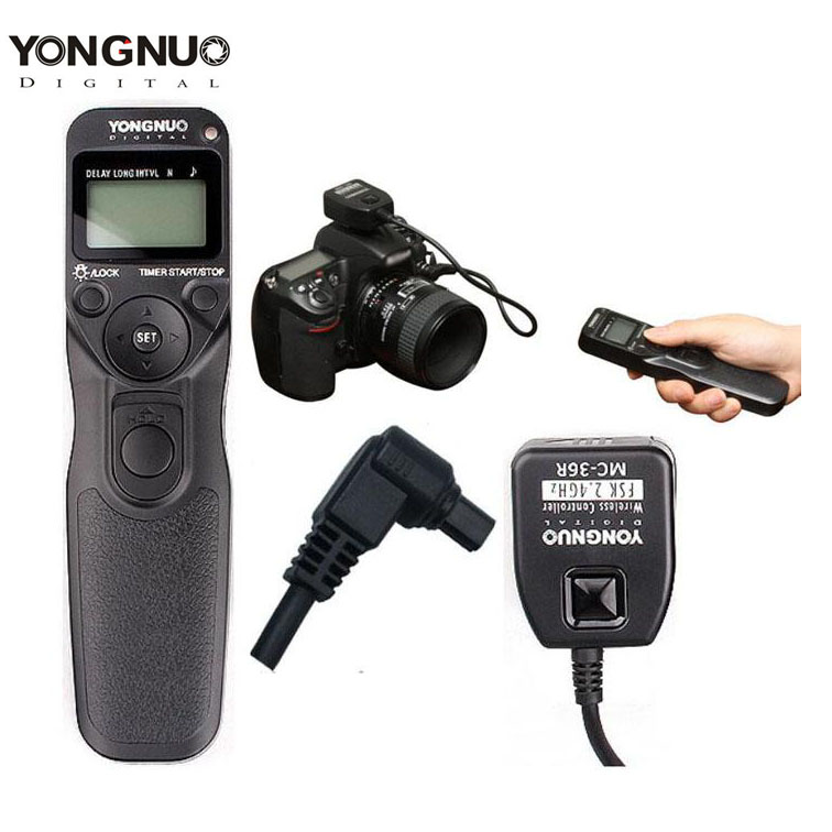Yongnuo MC-36R C3 Wireless Timer Remote Shutter Release For Canon 1D 5D 7D 5DII 50D 40D 30D godox plastic wired shutter release remote cord for canon 7d 5d 5d3 5d2 more black