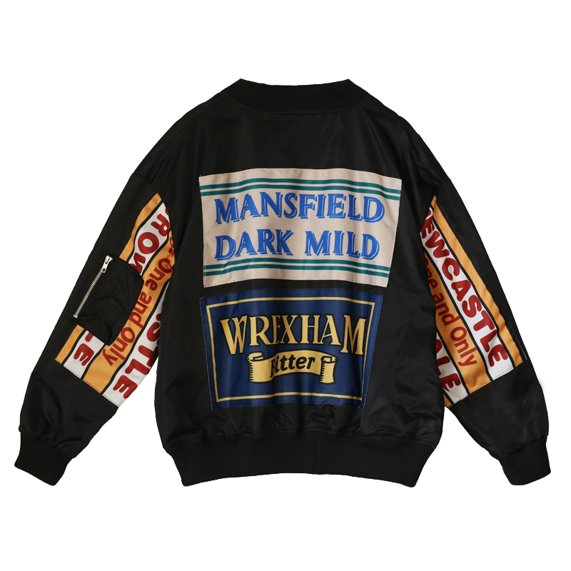 Basic Jackets Female Jacket Fashion Windbreaker Women Cardigan Long Female Jacket Letter Printing New Loose Baseball Coat