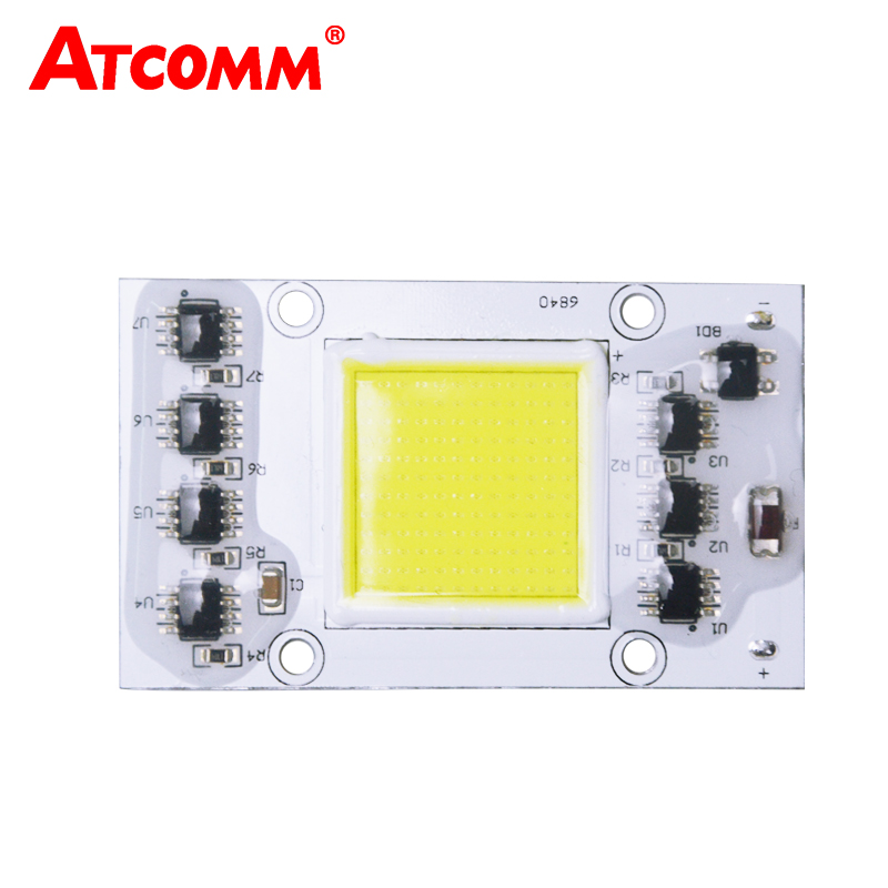 20W 30W 40W 50W Integrated Led COB Chip Lamp 110V 220V Smart IC No Need Driver High Lumen LED Matrix For Floodlight Searchlight 2015 h1 led cree high lumen 30w 3000lm 6000k no need fan