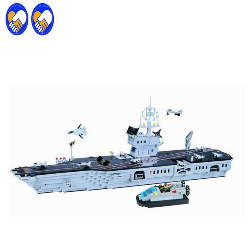 A Toy A Dream Enlighten113 NEW 990pcs CombatZones Aircraft Carrier large model Christmas Gift Building Blocks toys for children sexy short sleeve scoop neck slimming solid color t shirt for women