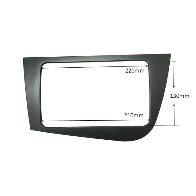 Double Din Radio Frame for Seat Leon 2005-2012 Head Unit Fascia GPS Navigation Stereo Panel Dash Mount Kit