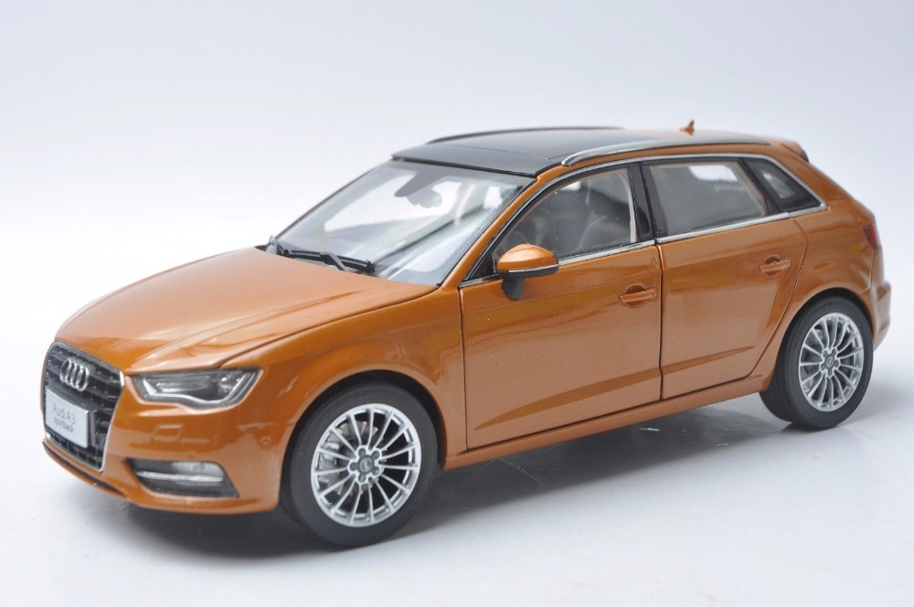 1:18 Diecast Model for <font><b>Audi</b></font> <font><b>A3</b></font> Sportback Orange SUV Alloy <font><b>Toy</b></font> <font><b>Car</b></font> Miniature Collection Gift S3 image