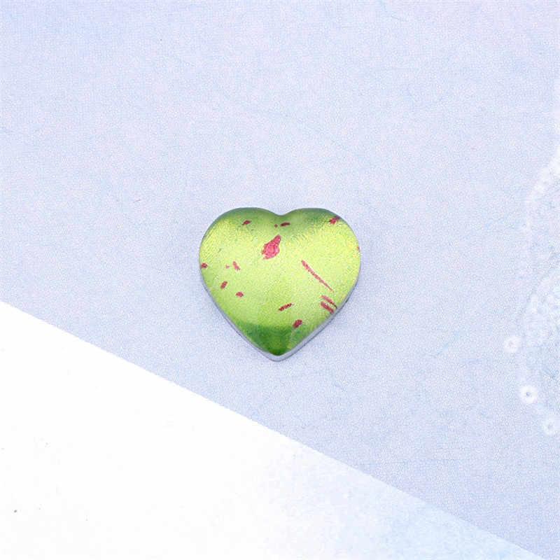 6 pcs Emerald สีเขียวทองฟอยล์รอบรักเรซิ่น Patch สำหรับเครื่องประดับ DIY แหวนต่างหู Cabochon ลูกปัดหัตถกรรม Charms make F411