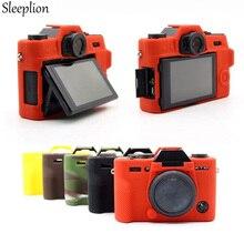 Sleeplion funda protectora de silicona suave para cámara Fuji Fujifilm X T10 XT10, funda de goma para cámara con sistema sin espejo