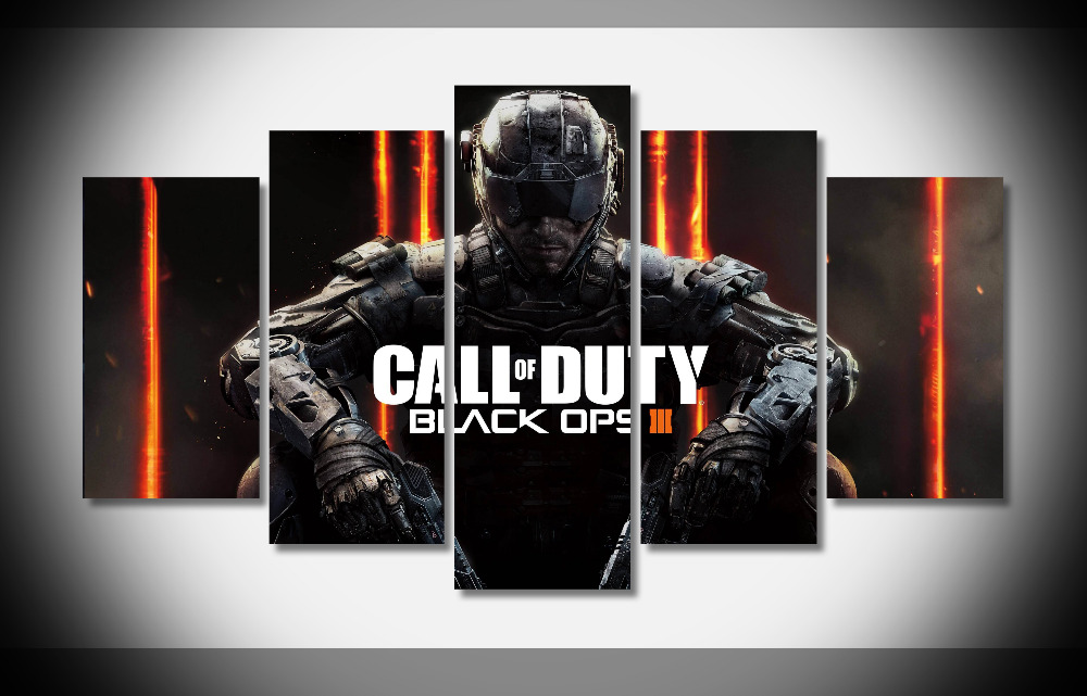 6754 Call of Duty Black Ops III Poster 4K Poster Framed Gallery wrap art print home wall decor wall picture Already to hang
