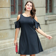 2018 summer Europe and America large size fat man knitted strapless female dress free shipping