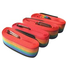 Rainbow Luggage Suitcase Secure Lock Cross Straps with PP Ribbon Plastic Buckle Theftproof Luggage Suitcase Straps(China)