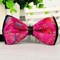 2016 New men classic bow tie pink bowtie Jacquard  12cm*6cm