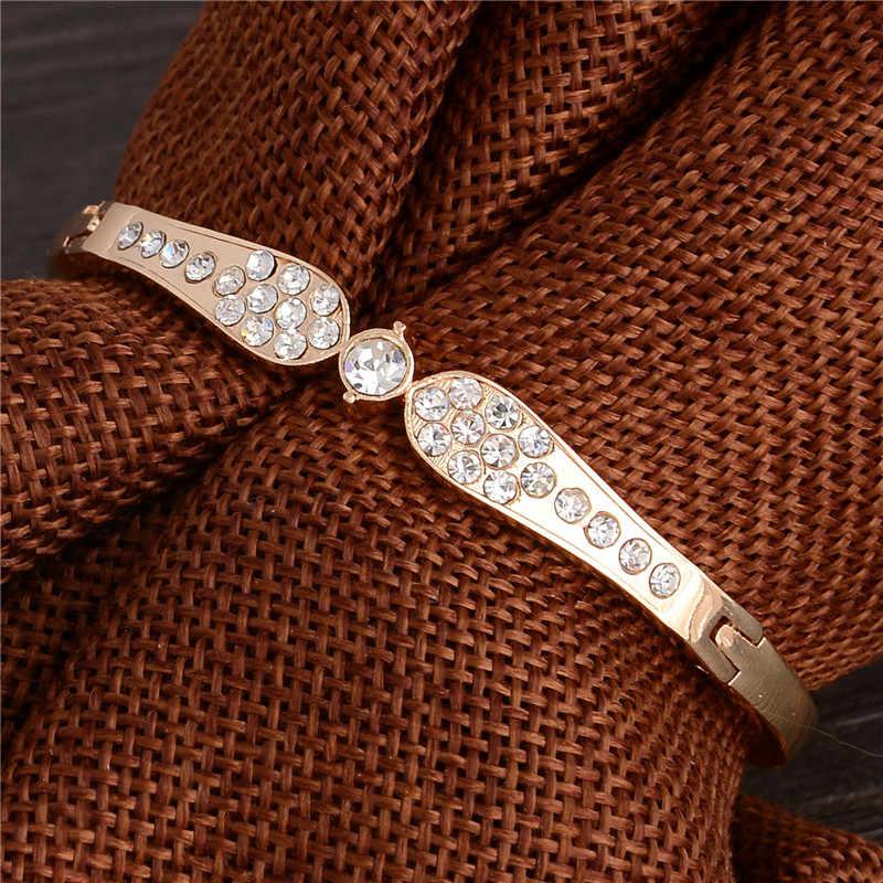 Fascino di Lusso Del Braccialetto e Braccialetti di Disegno Semplice di Cristallo di Marca di Modo Dei Monili di Cerimonia Nuziale Per Le Donne