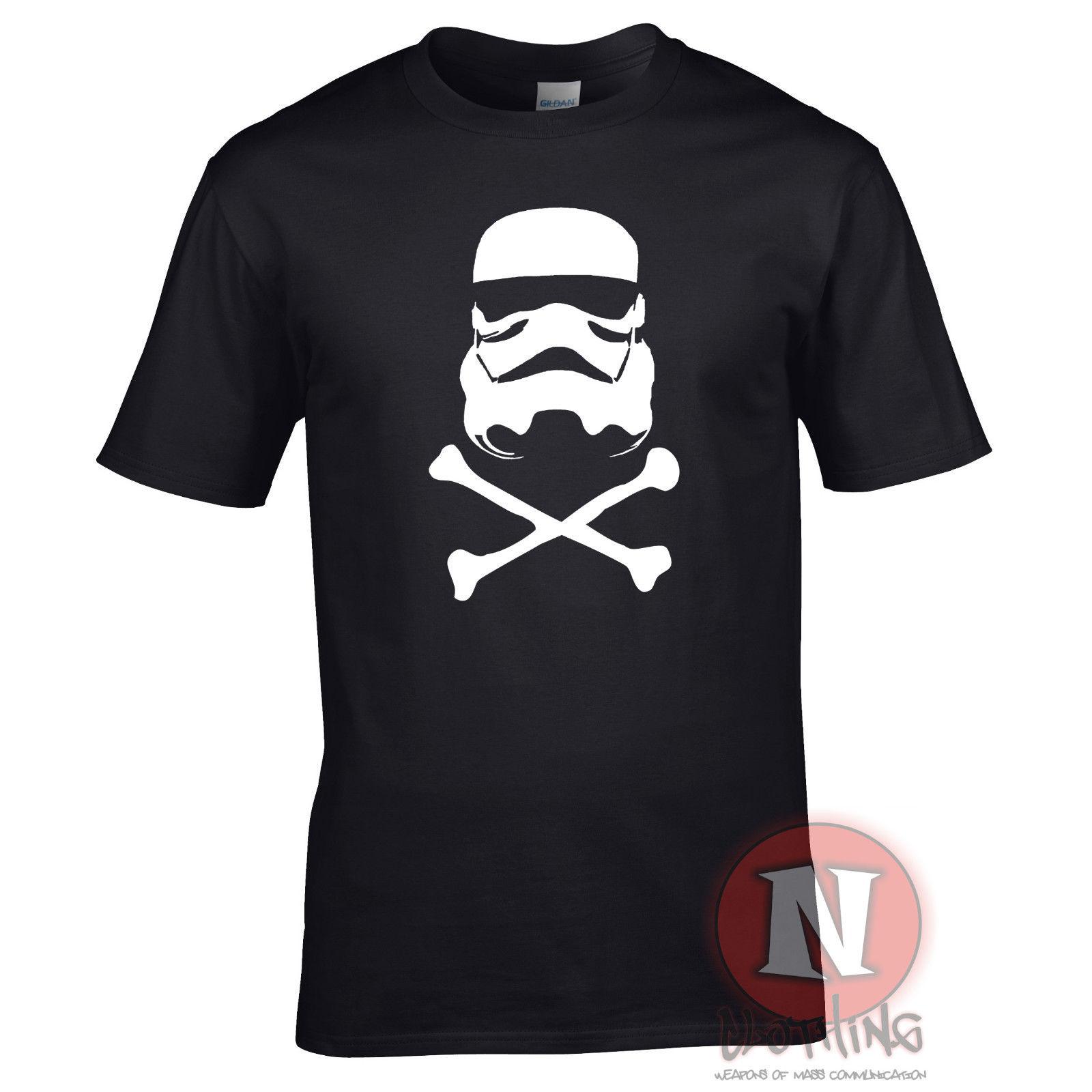 STORMTROOPER skull crossbones Star wars space pirate nerd t-shirt Free shipping  Harajuku Tops Fashion Classic