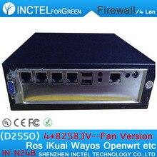 Двухъядерный процессор Intel ATOM D2550 1,86 ГГц крошечные firewall маршрутизатор с DC USB* 2 Lan 6 VGA ROS 4G Оперативная память 32G SSD