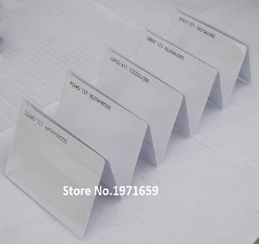 200pcs/lot 125Khz White ISO14443A RFID Tags ID Cards for Door Control Entry Access EM Card mango 103 em id thin card white 200 pcs