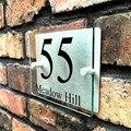 100*140 мм Индивидуальные Прозрачные Акриловые таблички с номером дома  таблички для вывесок  домашние знаки с алюминиевой пластиковой подлож...