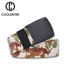 High Quality Canvas Casual Men Army Tactical Belt Military Nylon Belts Outdoor belts with Automatic buckle WB001