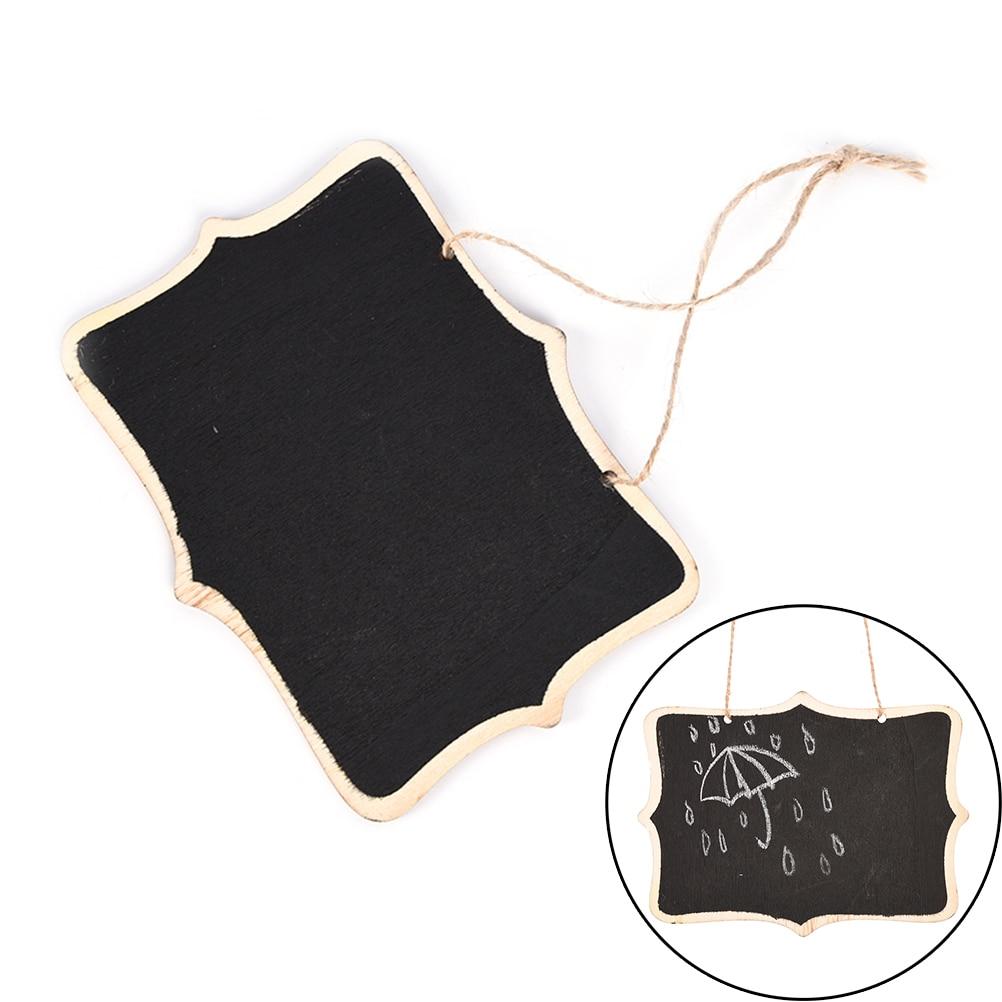 Wooden Wall-mount Black Board With Rope/Wood Blackboard Memo/Message Board 12*16*0.25cm