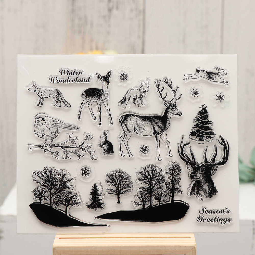New Forest Animal Transparent Clear Silicone Stamps Scrapbook Embossing Paper Card Craft scrapbooking Photo Album Decorate Gift