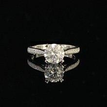 Роскошное кольцо из белого золота с муассанитом Ювелирное Украшение