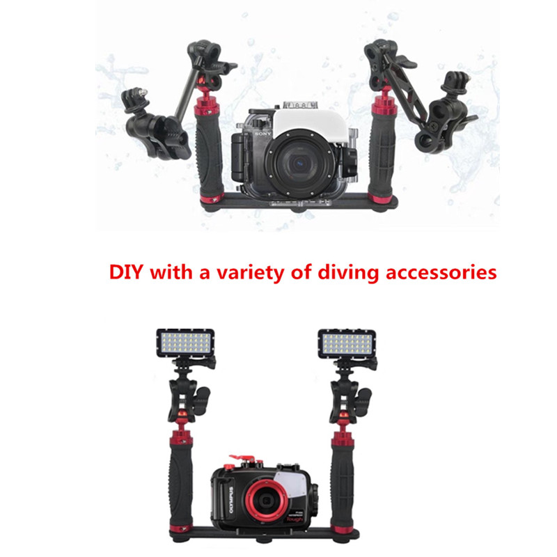 "1/"" Ball Adapter w// 1//4-20 Stud for Underwater Camera Arm Diving Photograph"