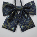 Japonés uniformes JK accesorios Mini mapa striped bow tie