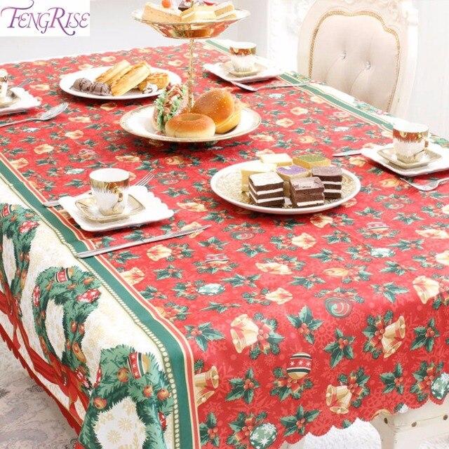 Fengrise 150x180cm Christmas Tablecloth Christmas Table Decoration