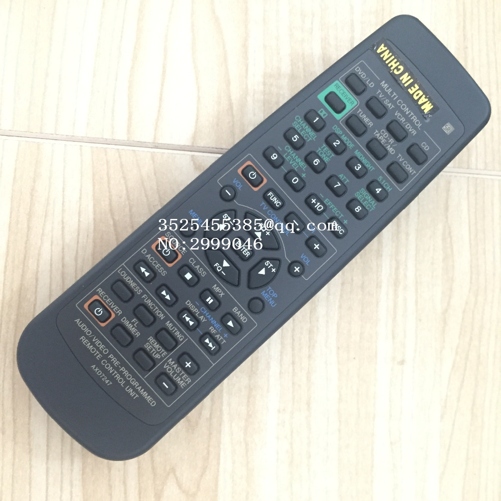 Brand new Original remote control REPLACEMENT AXD7247 For pioneer VSDX411 VSX0411 VSXD41 VSXD411 VSXD411S power amplifier saimi intelligent control skiip39ac12t4v10 brand new original ipm module