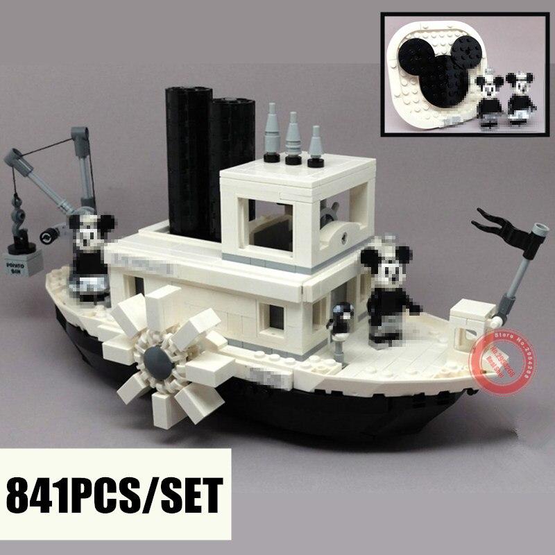 2019 nouvelles idées Steamboat Willie film fit legoings 21317 blocs de construction briques jouets pour enfants cadeaux modèle enfant cadeau de noël