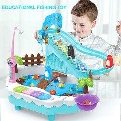 2019 nowe zabawki nauczanie edukacyjne maszyna trwałe plastikowe zabawki wędkarskie gra z przesuwanym pingwinem dla dwojga dzieci
