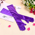 New Fashion Stretch Satin Long Gloves for Women/Evening Party Opera Gloves Women/Brand Fashion Apparel Accessories for Lady