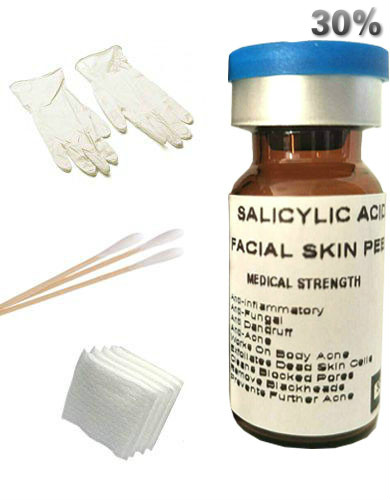 New SALICYLIC Acid 30% Chemical Peel For Rosacea, Acne, Oily Skin, Blackheads, Whiteheads, Clogged Pores, Seborrheic Keratosis