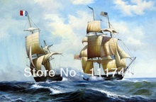 oil paintings sailing boat ,oil on canvas,Decroative painting,Seascape painting, Realist,hand-painted,High quality,free shipping sailing boat seascape waterproof wall tapestry